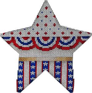 Associated Talent Large Star Bunting Striped Stars CT-1991