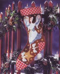 Birds of a Feather Angel of Peace Christmas Stocking
