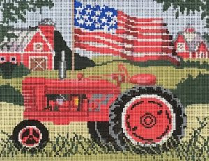 Birds of a Feather Red Tractor with Flag SW112
