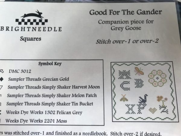 Brightneedle Good For the Gander Companion for Grey Goose Sampler