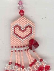 Fern Ridge Heart to Heart Fob Peyote Bead Kit