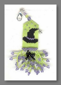 Fern Ridge Little Witches Fob Peyote Beaded Kit