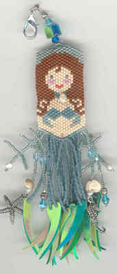 Fern Ridge Maggie Mermaid Fob Peyote Beaded Kit