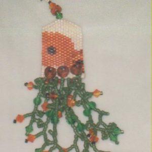 Fern Ridge Remember the Poppies Fob Peyote Bead Kit