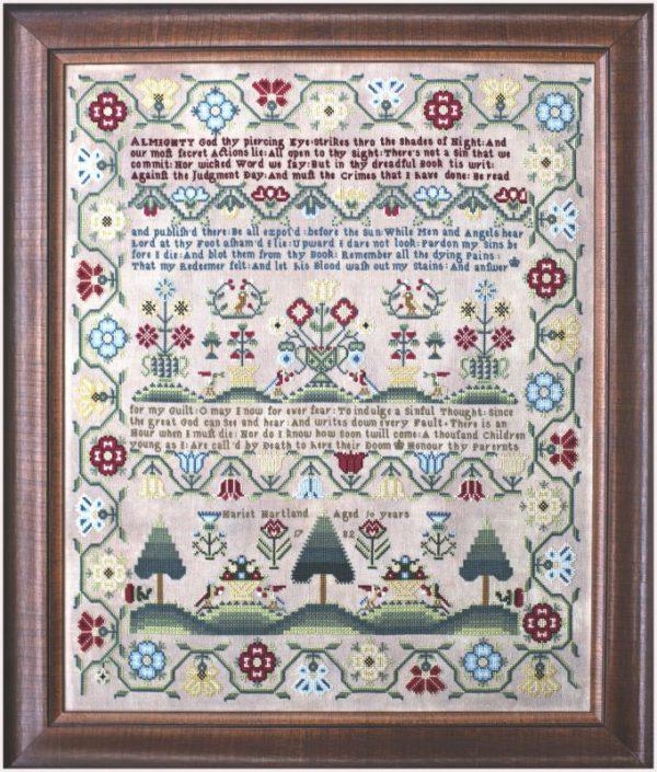 Hands Across the Sea Samplers Harriet Hartland 1782