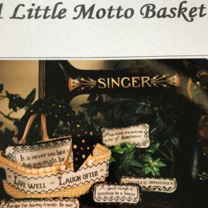 Hillside Samplings A Little Motto Basket