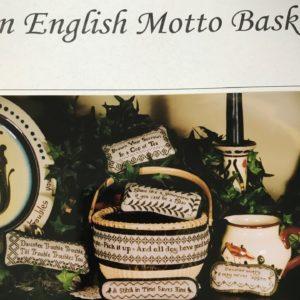 Hillside Samplings An English Motto Basket