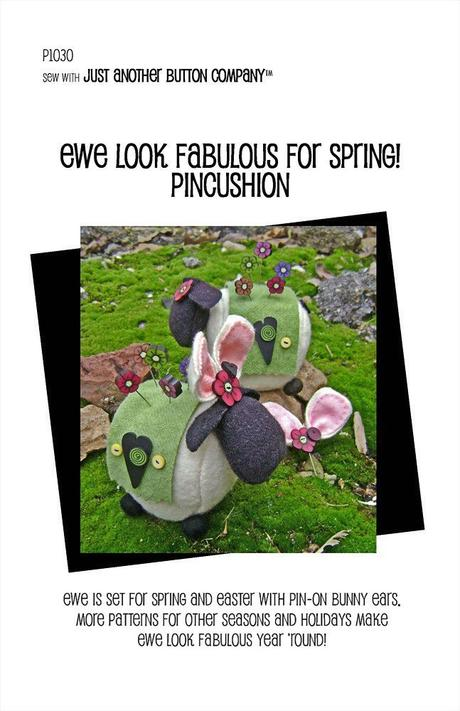 JABC Ewe Look Fabulous for Spring Pincushion Accessory Kit Only