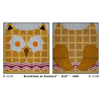 JP Needlepoint Breakfast at Hooters Double Sided JPB410A