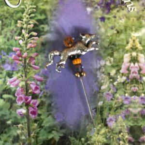 Just Nan Charm Garden Pin Silver Fox