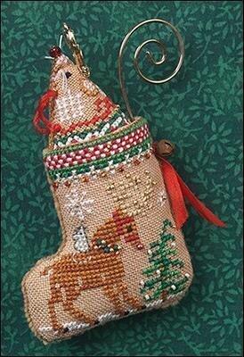 Just Nan Gingerbread Mouse Reindeer Stocking