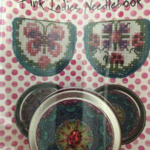 Just Nan Pink Ladies Needlebook with Ladybug Tin