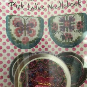 Just Nan Pink Ladies Needlebook with Pink Butterfly Tin