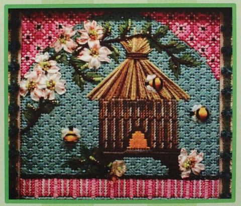 Kelly Clark Asian Skep with Dogwood Branch with Stitch Guide and Accessory Kit