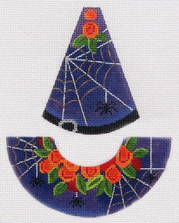 Kelly Clark Needlepoint Black Widow Witch Hat KCN 9154