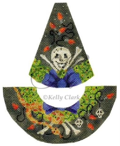 Kelly Clark Needlepoint Corn Snake and Skull Witch Hat KCN 9159