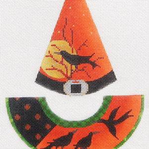 Kelly Clark Needlepoint Raven Flies Witch Hat KCN 9156
