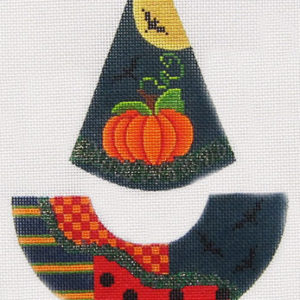 Kelly Clark Needlepoint Silvery Moon Witch Hat KCN 9155