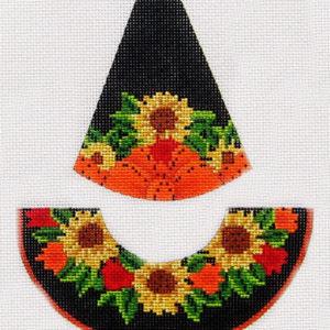 Kelly Clark Needlepoint Sunflower Garden Witch Hat KCN 9157