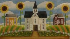 Painted Pony Mary Clark Barns & Sunflowers LS03