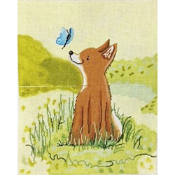 Patti Mann Baby Fox and Butterfly 20012
