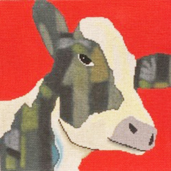 Patti Mann Cow on Red 50004