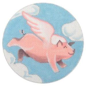 Pepperberry Designs Flying Pig Ornament FP04