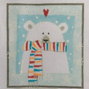 Pippin Polar Bear with Striped Scarf P-ET-022