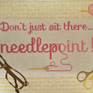 Rachel Donley Don't Just Sit There...Needlepoint RD077