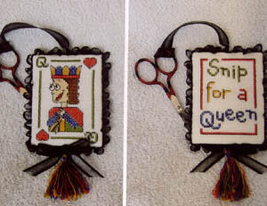 Raise the Roof Snip for a Queen with Scissor Charm