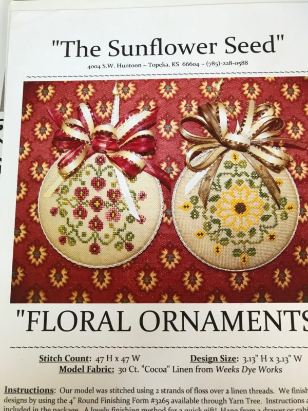 The Sunflower Seed Floral Ornaments